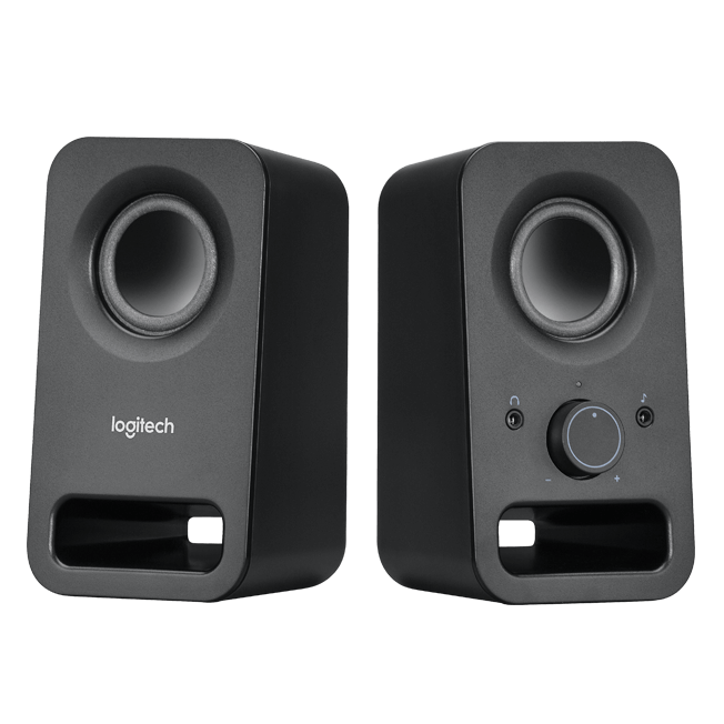 LOGITECH Z150 2.0 Stereo Speakers 6W Compact Size Easily Access to Power & Volume Control Headphone & Auxilia