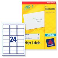Inkjet Label 63.5x33.9mm White