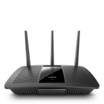 Linksys AC1900 wireless router Dual-band (2.4 GHz / 5 GHz) Gigabit Ethernet Black