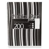 Pukka Jotta Notebook Wirebound Perforated 80gsm 4-Hole 200pp A4 Black Stripes Ref JP018-5 [Pack 3]