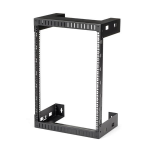 "StarTech.com 15U 19"" Wall Mount Network Rack - 12"" Deep 2 Post Open Frame Server Room Rack for Data/AV/IT/ Communication/Computer Equipment/Patch Panel w/Cage Nuts & Screws 200lb Capacity"
