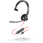 POLY Blackwire 3325 Headset Head-band Black,Red
