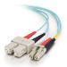 C2G 85531 cable de fibra optica 1 m OFNR LC SC Turquesa