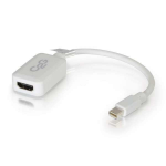 C2G 20cm Mini DisplayPort to HDMI Adapter - Thunderbolt to HDMI Converter M/F - White