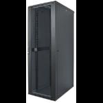 "Intellinet 19"" Network Rack, 32U, 1588 (h) x 600 (w) x 600 (d) mm, IP20-rated housing, Max 1500kg, Flatpack, Black"