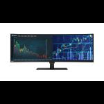 Lenovo ThinkVision P44w LED display 110,2 cm (43.4 Zoll) 3840 x 1200 Pixel Gebogen Matt Schwarz