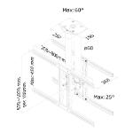 Newstar PLASMA-C100D Flat Panel-Deckenhalter 190,5 cm (75 Zoll) Schwarz