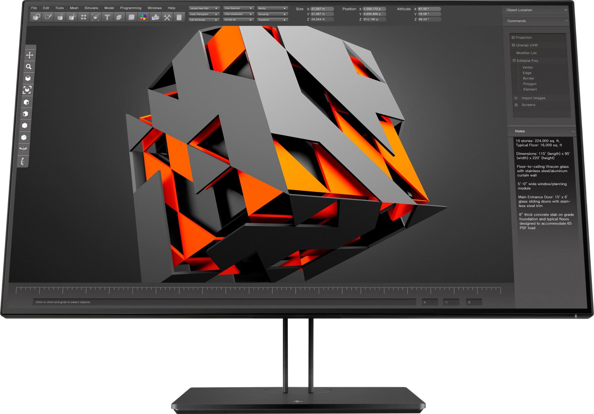 "HP Z32 80 cm (31.5"") 3840 x 2160 Pixeles 4K Ultra HD LED Negro"