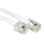 Cables Direct 5m RJ-11/RJ-11 telephony cable White