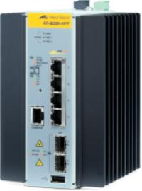 Allied Telesis AT-IE200-6FP-80 Gestionado L2 Fast Ethernet (10/100) Negro, Gris Energía sobre Ethernet (PoE)