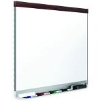QUARTET PORCELAIN WHITEBOARD PRESTIGE MAHOGANY FRAME 1200 X 915MM