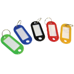 Cathedral Products Value Sliding Key Tags Assorted Colours Large PK50