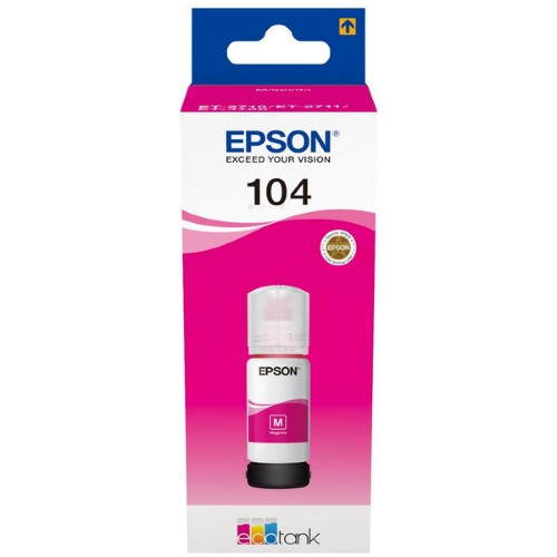 Epson C13T00P340 (104) Ink cartridge magenta, 7.5K pages, 70ml