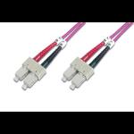 ASSMANN Electronic DK-2522-10-4 Glasvezel kabel 10 m SC Paars