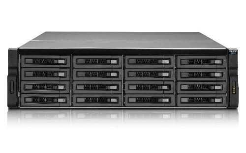 QNAP REXP-1620U-RP disk array 32 TB Rack (3U) Black