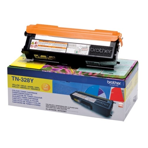 Brother TN328Y Laser Toner yellow 6000 pages