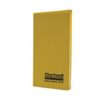 Chartwell Survey Dimension Book Weather Resistant 106x205mm Lined Numbered 1 Up Each Opening 160 Pages Yellow