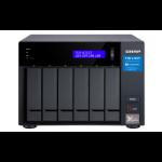 QNAP TVS-672XT NAS Tower Ethernet LAN Black i3-8100T TVS-672XT-I3-8G/60TB-RED