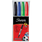 Sharpie Fine Point Fine tip Black,Blue,Green,Red 4pc(s) permanent marker