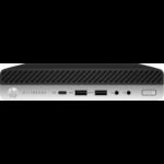 HP EliteDesk 800 G4 i7-8700 mini PC 8th gen Intel® Core™ i7 8 GB DDR4-SDRAM 256 GB SSD Windows 10 Pro Black, Silver