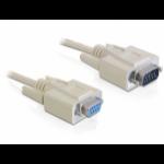 DeLOCK RS-232 3m 3m SUB-D 9 SUB-D 9 Beige seriële kabel