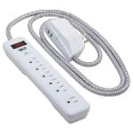 "Tripp Lite TLP616USB surge protector White 7 AC outlet(s) 120 V 72"" (1.83 m)"