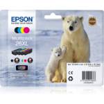 Epson C13T26364010 (26XL) Ink cartridge multi pack, 1x500,3x700, 12ml 3x10ml, Pack qty 4