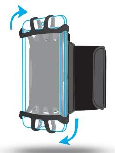 "Mobilis ARM BAND 4-6IN . mobile phone case 15.2 cm (6"") Armband case Black"