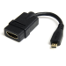 StarTech.com 5in High Speed HDMI Adapter Cable - HDMI to HDMI Micro – F/M