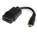 StarTech.com Cable de 12cm Adaptador HDMI de alta velocidad - HDMI a Micro HDMI - Hembra a Macho