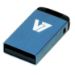 V7 Nano USB 2.0 4GB USB flash drive USB Type-A Blauw