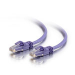 C2G Cat6 550MHz Snagless Patch Cable 1m cable de red Púrpura