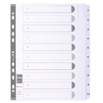 Guildhall DIVIDERS MYLAR A4 MAXI WHITE 1-10