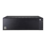 Hanwha PRN-4011 network video recorder Black