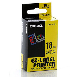 Casio XR-18YW1 label-making tape
