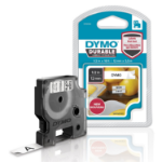DYMO D1 Durable - Black on White - 12mm label-making tape