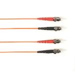 "Black Box FOCMR50-004M-STST-OR fiber optic cable 157.5"" (4 m) 2x ST OFNR OM2 Orange"