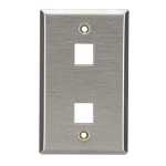 Black Box WP371 wall plate/switch cover Stainless steel