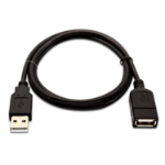V7 Black USB Cable USB 2.0 A Female to USB 2.0 A Male 1m 3.3ft