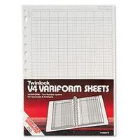Twinlock V4 Variform Double Ledger Sheets Ref 75951 [Pack 75]