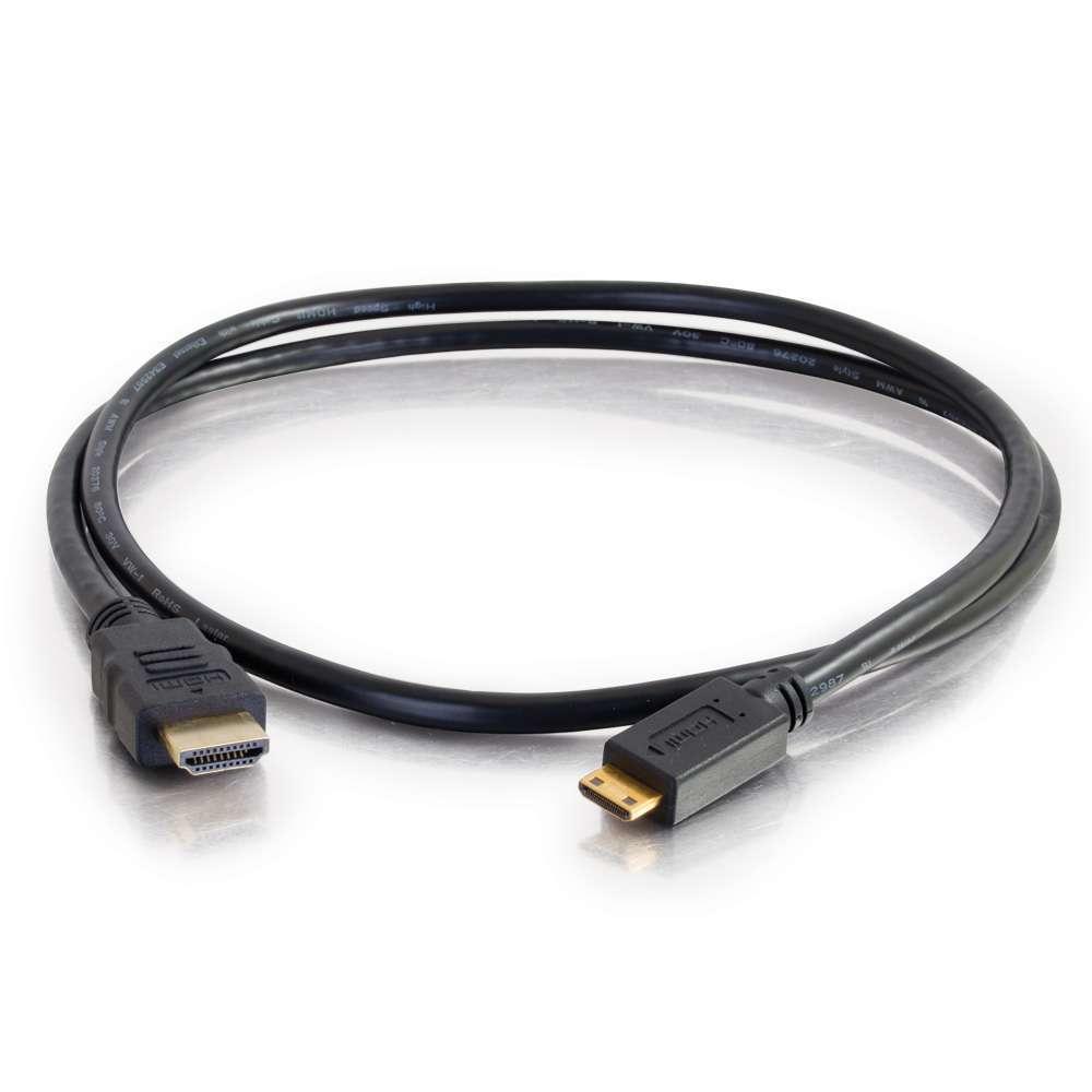 C2G Cable de alta velocidad de 2 m HDMI(R) a HDMI Mini con Ethernet