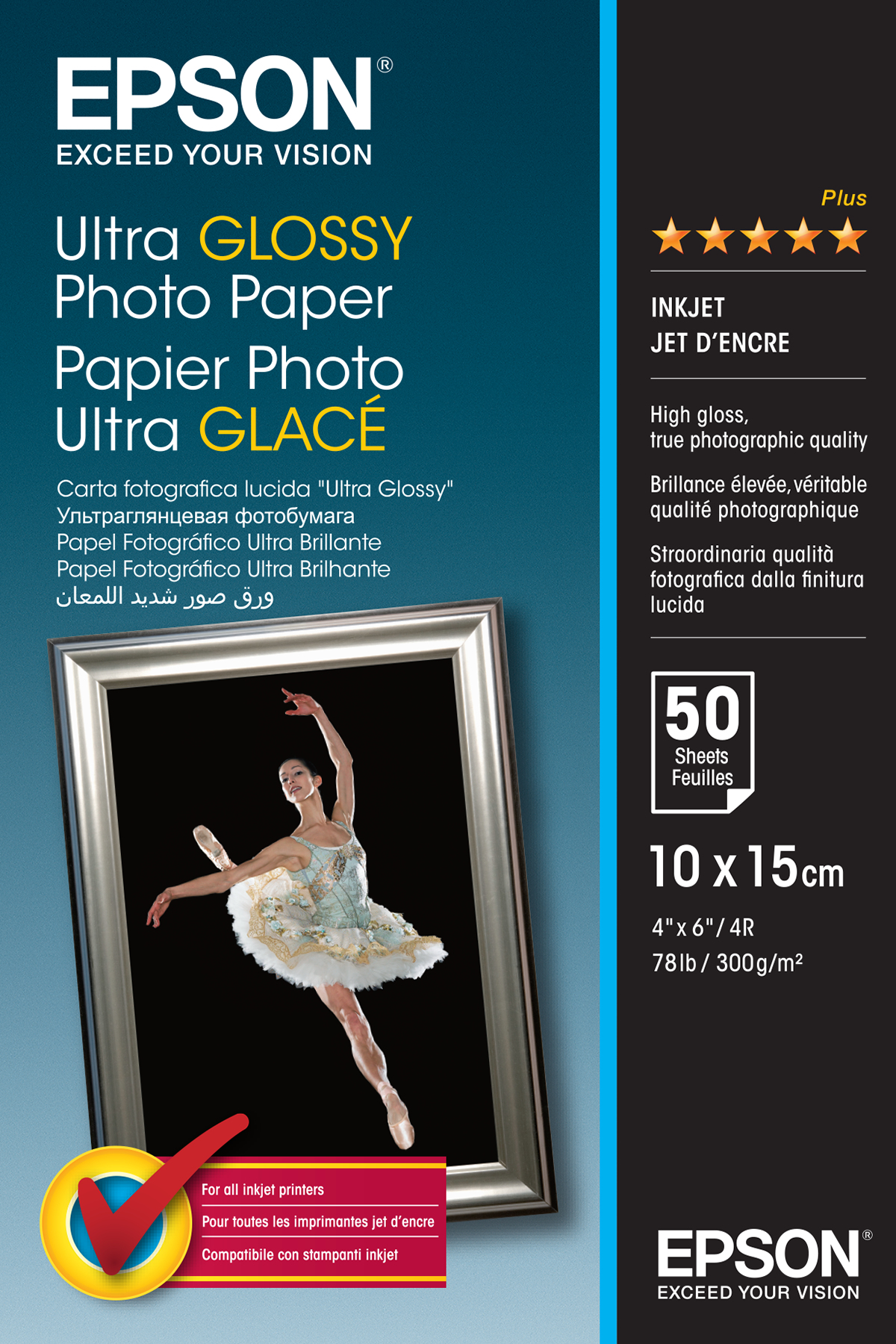Epson Ultra Glossy Photo Paper - 10x15cm - 50 Sheets