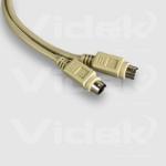 Videk Mini 6 Pin Din M to Mini 6 Pin Din M Cable 20m 20m PS/2 cable