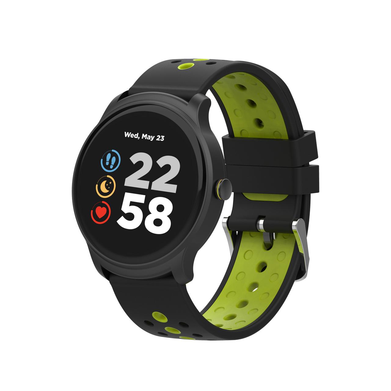 "Canyon CNS-SW81BG smartwatch IPS 3.3 cm (1.3"") 44 mm Black, Green"