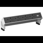 Bachmann DESK 2 power extension 0.2 m 4 AC outlet(s) Indoor Black,White