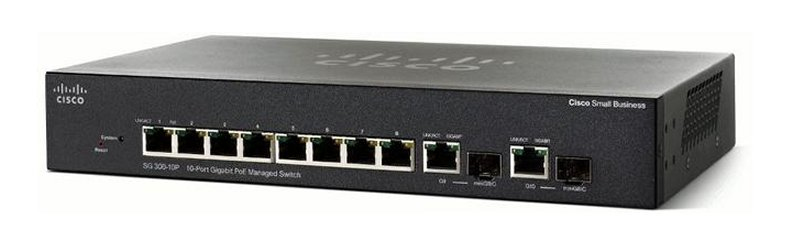 Cisco SG355-10P Managed L3 Gigabit Ethernet (10/100/1000) Black Power over Ethernet (PoE)