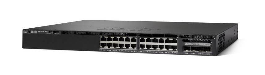 Cisco Catalyst WS-C3650-24PS-S switch Gestionado L3 Gigabit Ethernet (10/100/1000) Negro 1U Energía sobre Ethernet (PoE)