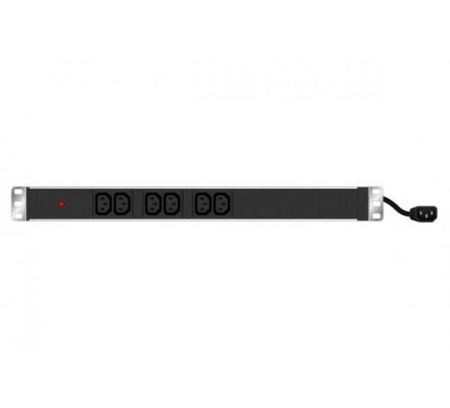 Hypertec 808900-HY power distribution unit (PDU) 1U Black 6 AC outlet(s)