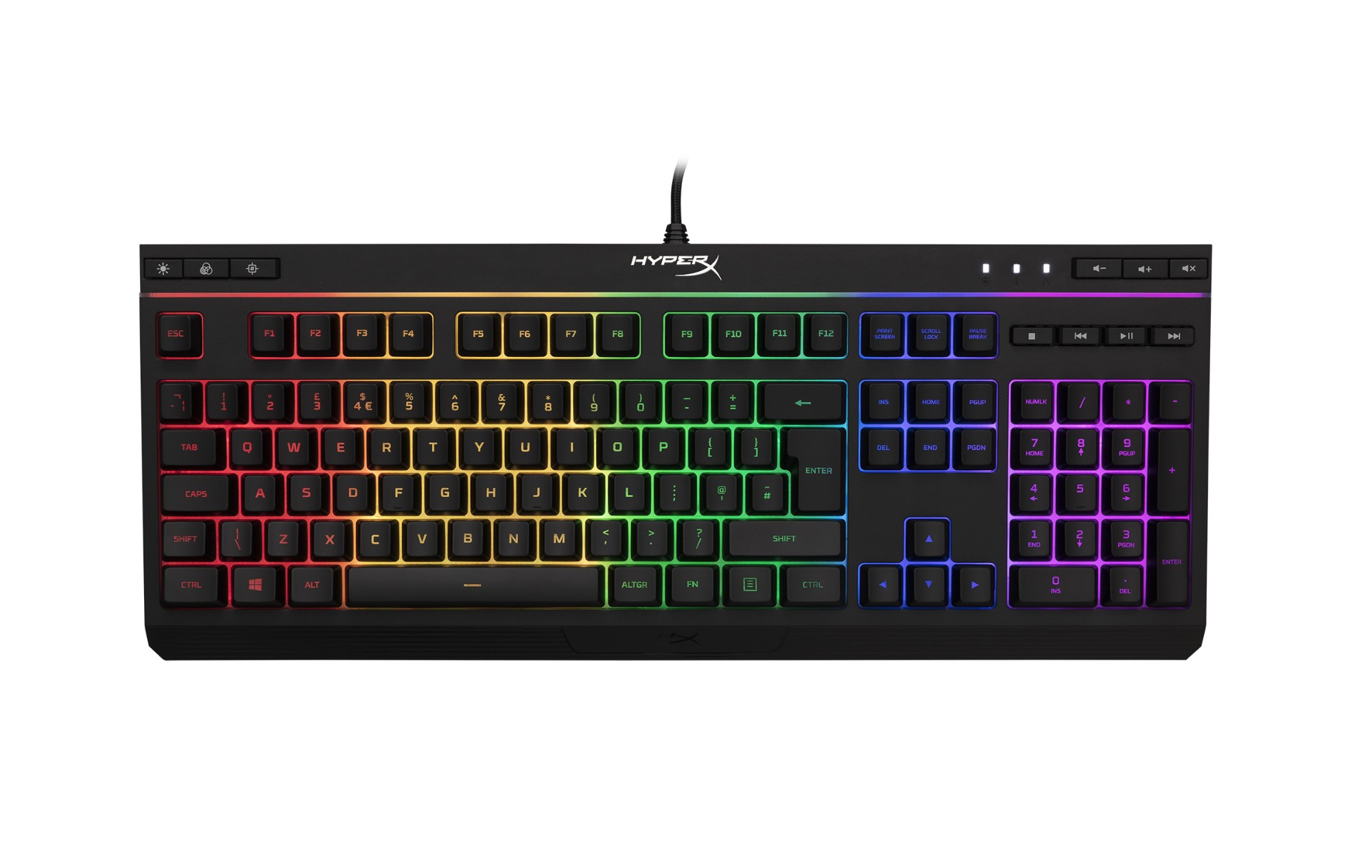 HYPERX ALLOY CORE RGB KEYBOARD USB QWERTY UK ENGLISH BLACK
