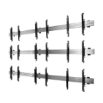 "B-Tech BT8340 55"" Black,Silver flat panel wall mount"